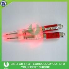 Factory Price Plastic Promotional Led Light Logo Pen
