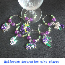 New Products Existing Mold Halloween Glass Wine Charm Set