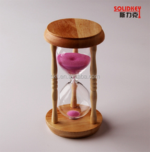 Wooden promotional glass sand timer