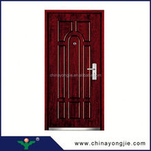 China wholesale Steel sheet thickness of door leaf 0.6mm front double door designs
