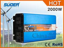 Suoer Pure sine wave power inverter 2000w solar Power inverter 12V dc to 220V ac Power inverter