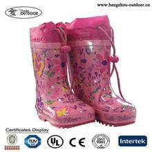 Children Girls Waterproof Fancy Winter Rubber Rain Boot