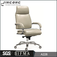 2015 executive leather office boss chair,WorkWell cheap high back leather chair