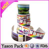 Yason top selling adhesive label & sticker for furniture gasoline sticker customized oem designs stickers/labels in piece/roll