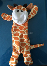 pet product 2014 hot sale plush stuffing free pet toy animal plush giraffe made in china