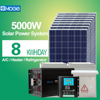 Moge 5kw home solar power panel systems price low configuration