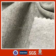80/20 CVC one side brushed polar fleece melange cationic dye fabric
