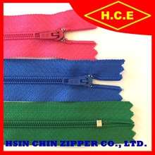Fancy colorful strong teeth sleeping bag nylon zipper for sale
