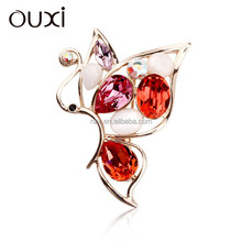 OUXI New arrival Winter brooch wholesale made with swarovski elements 60110-2