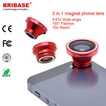 3 in 1 Macro Wide Angle Eye Fish Magnet Cell Phone Lens Attachment