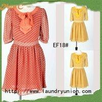 Junior casual cheap casual chiffon dresses EF18#