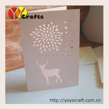 High quality Handmade Laser Cut Merry Christmas Greeting Card with various designs & colours