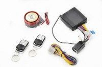 Remote control engine start motorcycle alarm