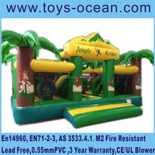 new arrived ! jungle theme inflatable animal bouncer playground for sale