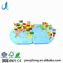 wooden national flag puzzle know every country's flag and find the right place