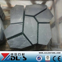 Black Slate Stone Irregular Shaped Slate Pavers