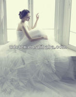 White Organza Lace Fabric for wedding dress