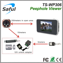 Saful TS-WP306 2.4GHz Digital Wireless Peephole lcd door viewer