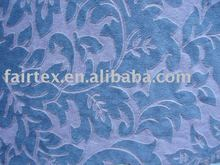 Blue Plush Textile For Sofa Cover