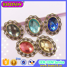 Vintage Europe Style with Glass Stone Charm Elegant Copper Jewelry Charm Factory Wholesale