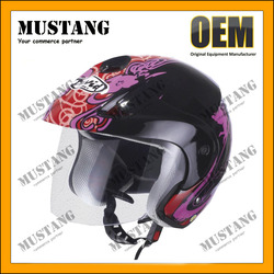 Half Face Motorcycle Helmet Injected ABS Shell With ECE Certification