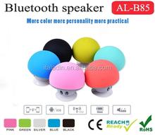 Mushroom Mini Wireless Bluetooth Speaker Silicone Sucking Hands Free Speakers, bluetooth portable speaker wireless for gift