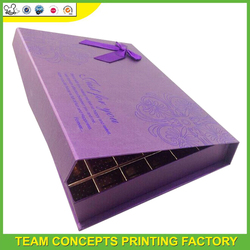 Recycle square decorative paper donut packaging box