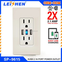Promotion Gift Mini usb wall socket usa for USA CA market