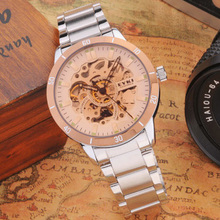 High end odm transparent automatic watch with visible mechanism
