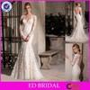 LN06 2016 Suzhou Factory Sexy back see-through Elegant Long Sleeve Mermaid Lace Wedding Dress