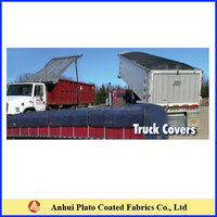 18oz vinyl black truck cover Asphalt tarp