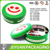 2015 decorative round cookie tin box /tin box for cookies