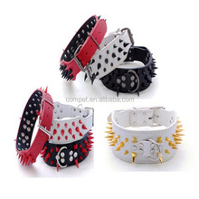 Stylish Colorful Spikes Spiked Leather Dog Collar Hunting pet Dog Collars