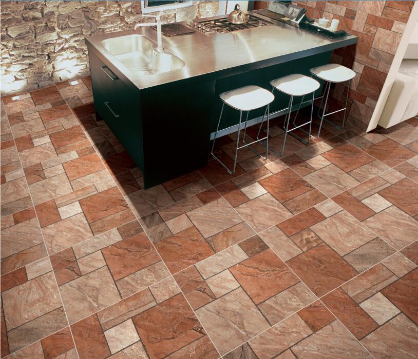Interior Brick Flooring Pricing : Ceramic floor tile mm brick pattern indoor