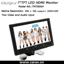 hdmi input monitor 7inch support DOS/Window 9X,ME,2K,XP,7 Vista, NT, CE,LINUX, Mac ect operating system
