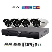 Home 4CH DVR Day Night Security Camera CCTV System 4ch dvr Kit Free DDNS 3G Mobile Phone IE View DK42