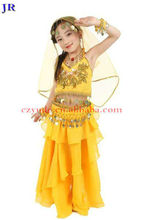 Wholesale indian girls belly dance wear suit top and skirt ET-008#