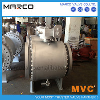 High quality carbon and stainless steel low pressure pn25 pn40 pn50 class300lb flange ball valve