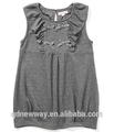 cinza de algodão novo modelo de vestido da menina 2015
