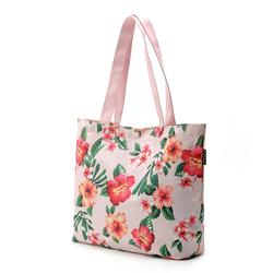 flower logo waterproof nylon gifts shopping tote bags, recycled nylon beach tote handbags,