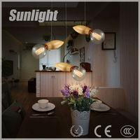 Solid wood restaurant meals chandeliers single head droplight oak mango Modern Industrial Pendant Light