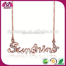 Fashion Jewelry Necklace Pendant Alphabets Designs For Women