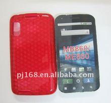 beaded rhineston TPU Diamond cell phone cover for motorola MB860