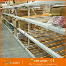 Pallet roller rack sliding carton flow rack for warehouse storage