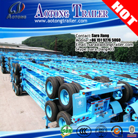 Port Semi Vehicle Trailers 3 Axles Yard Chassis/Container Chassis for 40ft Transport