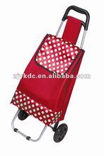 2012 waterproof 600D two wheels lightness shopping trolley bag