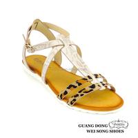 hot selling leopard print fashionable design kvoll women trendy sandals antimicrobial sandal
