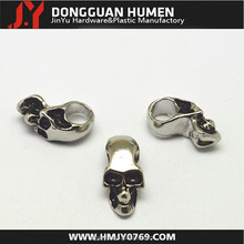 Jinyu vertical hole skull bead,skull beads for key chain,metal alloy skull bead