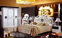 high gloss white modern bed room furniture