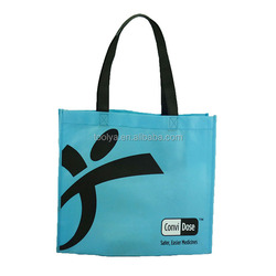 2015 foldable non-woven fabric bag with pocket